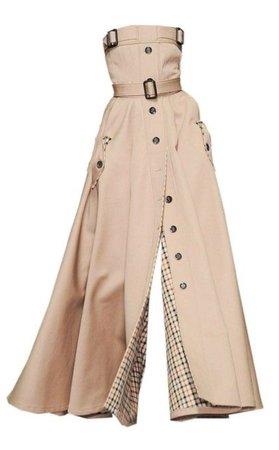 beige coat dress