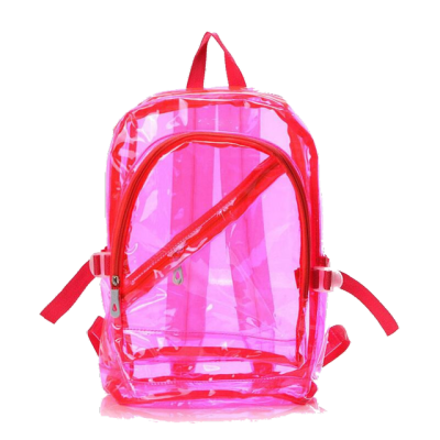 Hot-Pink Backpack Plastic