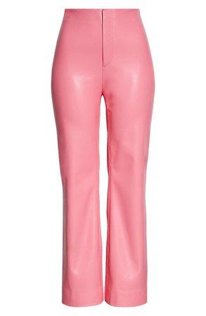 Alice + Olivia Lorinda High Waist Crop Flare Faux Leather Pants   Nordstrom