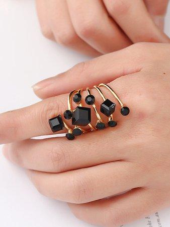 Gemstone Spiral Ring