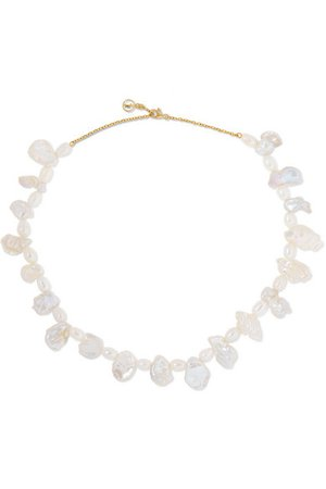 Anissa Kermiche | Gold-plated pearl necklace | NET-A-PORTER.COM