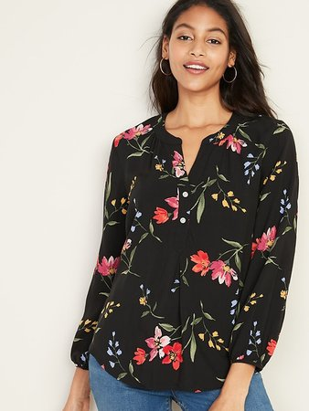 Relaxed Popover Blouse for Women | Old Navy