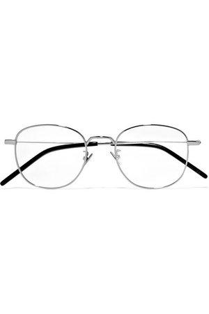 SAINT LAURENT | Round-frame silver-tone optical glasses | NET-A-PORTER.COM