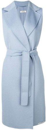 'S sleeveless belted coat