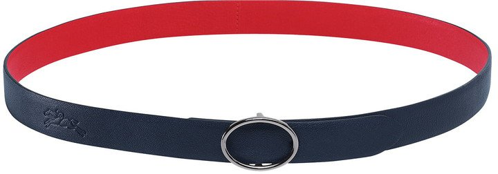Le Pliage Oval Buckle Reversible Leather Belt