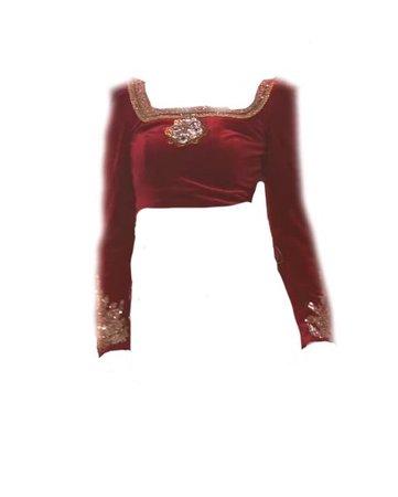 Long Sleeve Burgundy Top