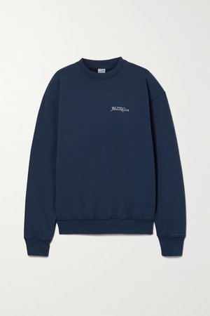 Rizzoli Printed Cotton-jersey Sweatshirt - Navy
