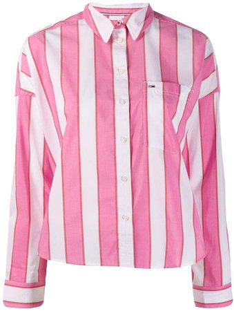 cropped striped shirt