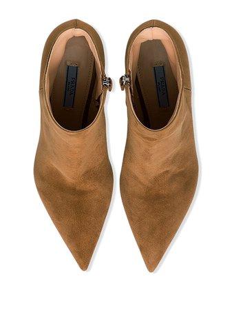 Prada Pointed Toe Boots - Farfetch