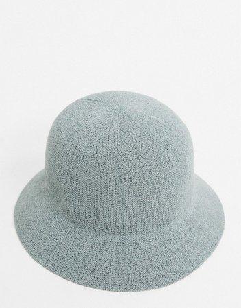 ASOS DESIGN textured bucket hat in blue | ASOS