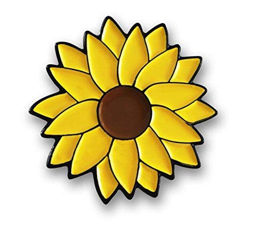 Yellow Sunflower Enamel Lapel Pin
