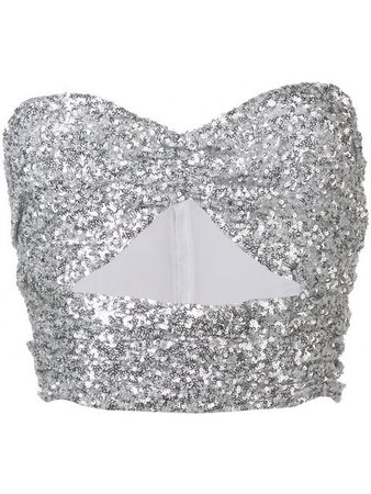 Attico sequin bandeau crop top $507 - Buy Online - Mobile Friendly, Fast Delivery, Price
