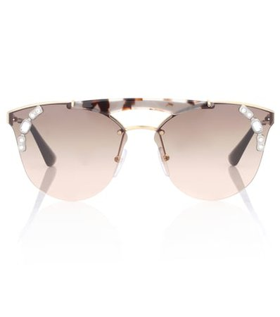 Ornate aviator sunglasses