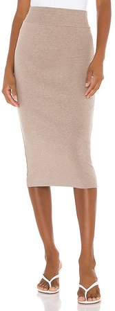 Cotton Rib Pencil Skirt