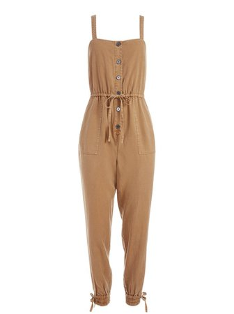 Tiana Button Front Jumpsuit | Alice And Olivia