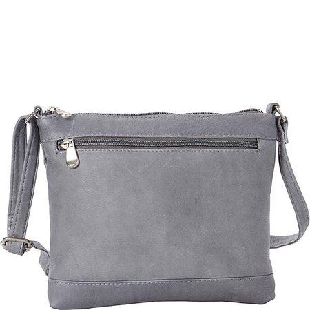 gray crossover purse