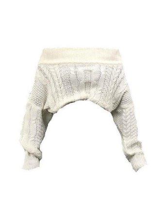 Off Shoulder Cable Knit Jumper PNG