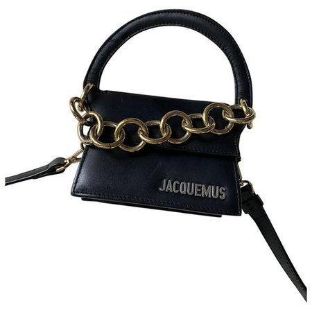 Le rond leather crossbody bag Jacquemus Black in Leather - 9697712