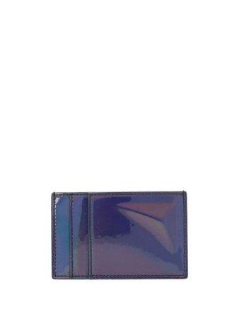 Alexander Mcqueen High-Shine Iridescent Cardholder 550820G210N Black   Farfetch