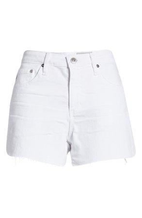 AG Hailey Cutoff Shorts | white