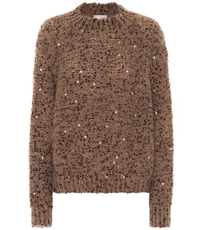 Sequined Sweater | Brunello Cucinelli - Mytheresa