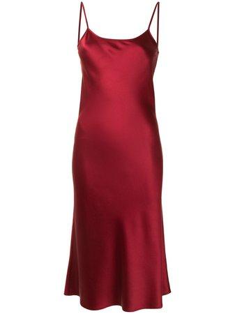 VOZ Slip Dress De Seda Midi - Farfetch