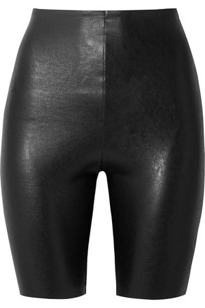 Commando | Faux stretch-leather shorts | NET-A-PORTER.COM