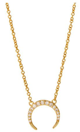 Gold Moon Dainty Necklace