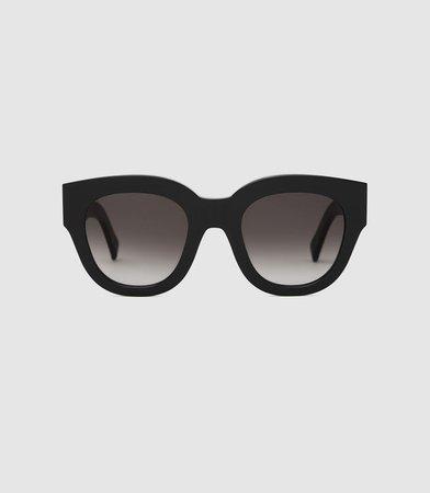 Cleo Black Monokel Eyewear Acetate Sunglasses – REISS
