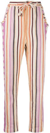 Pinstriped Slim-Fit Trousers