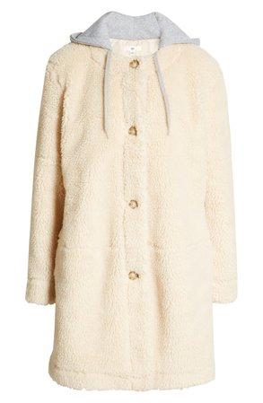 BP. Long Hooded Teddy Coat | Nordstrom