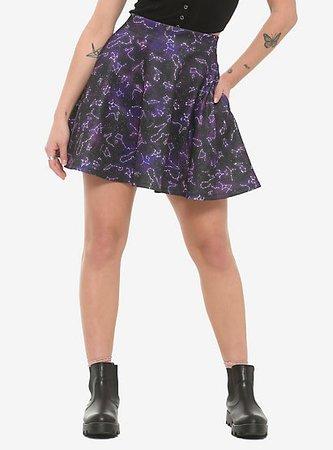 Constellation Print Skater Skirt