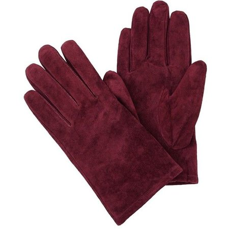 dark red gloves