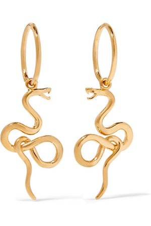 Meadowlark | Medusa gold-plated earrings | NET-A-PORTER.COM