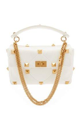 Roman Stud Large Leather Shoulder Bag By Valentino   Moda Operandi