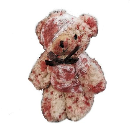 Punk Bloody Plush Bear Keychain Halloween Injured Animal Bear Doll Key Ring Bags Pendant Creative Fashion Cool Jewelry|Key Chains| - AliExpress
