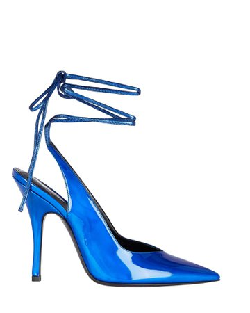 The Attico Venus Patent Leather Wrap Sandals | INTERMIX®