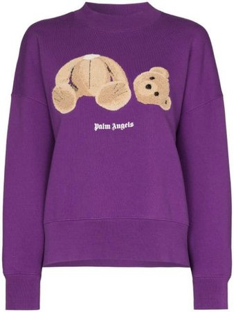 Palm Angels bear-print Sweatshirt - Farfetch