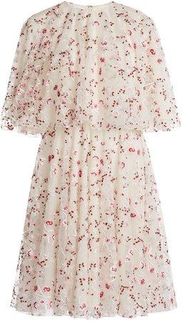 Giambattista Valli Floral Embroidered Tulle Dress
