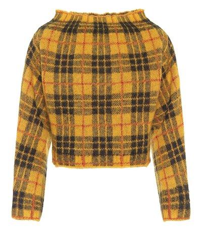 Checked Alpaca-Blend Sweater | Monse - Mytheresa