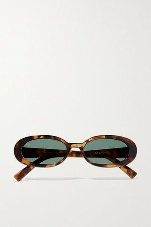 Tortoiseshell Outta Love oval-frame tortoiseshell acetate sunglasses | Le Specs | NET-A-PORTER