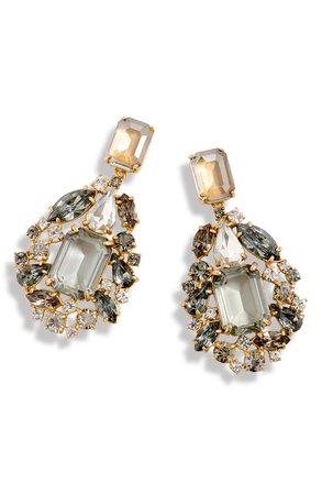 J.Crew Cluster Drop Stone Earrings | Nordstrom