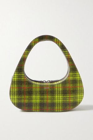 Coperni | Swipe checked textured-leather tote | NET-A-PORTER.COM