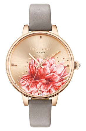 Ted Baker London Kate Leather Strap Watch, 36mm | Nordstrom