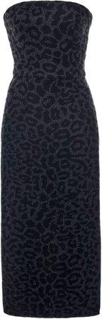 Valentino Leopard-Print Wool Dress