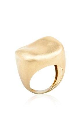 Malak 18k Gold Square Ring By Nada Ghazal | Moda Operandi
