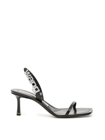 Alexander Wang Alexander Wang Ivy Logo Sandals - BLACK (Black) - 11002011   italist