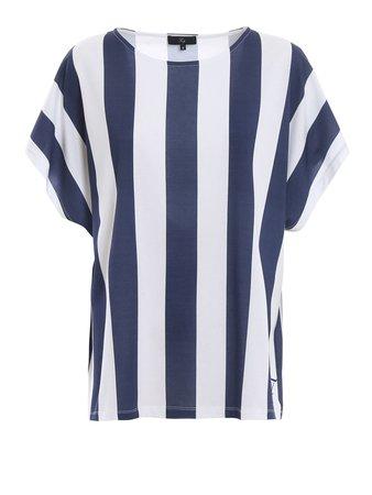 Fay Striped Cotton Boxy T-shirt