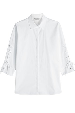 Cotton Shirt with Lace-Up Sleeves Gr. DE 34