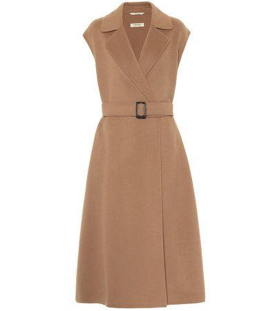 S Max Mara, Delfina sleeveless virgin-wool coat